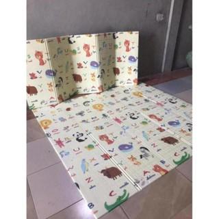 Thảm trải sàn xốp XPE 2 mặt phủ Silicone Hàn Quốc mẫu đẹp chống thấm tuyệt đối chống ngã cho bé tập bò kèm túi 1m8- 2m [ĐƯỢC KIỂM HÀNG] - SHOPBAN6254VN 3