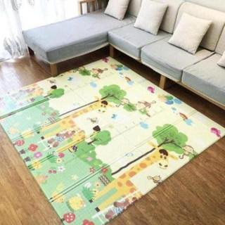 Thảm trải sàn xốp XPE 2 mặt phủ Silicone Hàn Quốc mẫu đẹp chống thấm tuyệt đối chống ngã cho bé tập bò kèm túi 1m8- 2m [ĐƯỢC KIỂM HÀNG] - SHOPBAN6254VN 4