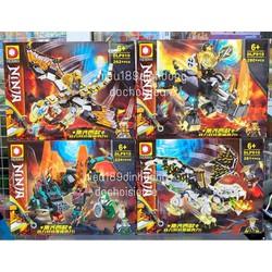 Lắp ráp Xếp hình not Lego Ninjago 910 : Linh thú rồng tê giác của các ninja (Khách chat chọn mẫu)