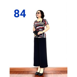 Đồ Bộ Trung Niên 2021 - Bộ đồ phối áo lụa hàn châu, quần đũi cao cấp, Siêu mềm, Siêu mát - (84)- Laddy_store - Đồ Bộ Trung Niên 2022 thumbnail