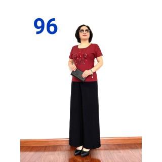 Thời Trang Trung Niên 2021 - Bộ Đũi Tay Lỡ Cao Cấp - Chất Vải Loại 1- Siêu Mềm, Siêu Mát -96 - Laddy Store - thời trang trung niên 2021 thumbnail
