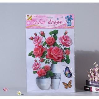 Tranh Hoa Nổi 3D Trang Trí Nhà Cửa Dán Kính, Dán Tường, Dán KÍnh loại đẹp - tranh 3d thumbnail