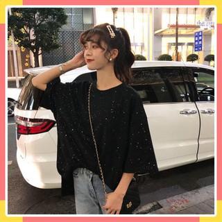 Áo thun nữ cổ tròn kim tuyến lung linh, kiểu mới ngắn tay hiện đại, cá tính siêu đẹp thời trang 2020 - 6168209102 thumbnail