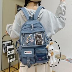 Balo Ulzzang chống nước, balo lưới, balo trong suốt thời trang cho nữ tặng kèm sti er và thẻ ảnh [ĐƯỢC KIỂM HÀNG] 41591258