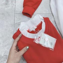 [HÀNG THIẾT KẾ] Áo Phông Đỏ Cổ Bèo Phối Chân Váy Trắng 2XY [ĐƯỢC KIỂM HÀNG] 41583905