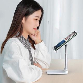 Giá đỡ điện thoại - để bàn bằng kim loại có thể điều chỉnh và gập lại dùng cho điện thoại và máy tính bảng - Giá Đỡ Máy Tính Bảng thumbnail