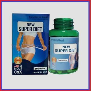 Viên Giảm Cân New Super Diet Nhập Khẩu Mỹ -Hỗ trợ giảm cân nhanh chóng, lấy lại vóc dáng thon gọn, săn chắc- Hộ 30 viên. - giảm cân thumbnail