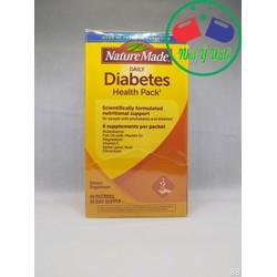 Hổ trợ tiểu đường DIABETES Health Pack, hỗ trợ dinh dưỡng một cách khoa học, dành cho người tiền tiểu đường và tiểu đường, 6 chất bổ sung mỗi gói: Vitamin tổng hợp, dầu cá với Vitamin D3, Magie, Vitamin C, Alpha Lipoic Acid, Chromium, thực phẩm chức