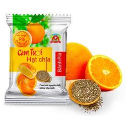 240g 6 Bánh pía CHAY mini CAM TƯƠI hạt chia - có VITAMIN C tăng đề kháng - CANXI chắc khỏe xương - CHẤT XƠ tốt tiêu hóa