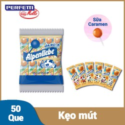 Kẹo mút Alpenliebe Hương Sữa Caramen Gói 50 Que