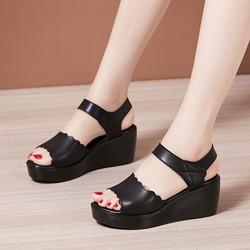 Giày sandal nữ cắt quai cá tính phong cách Hàn Quốc cao 6cm S120