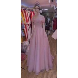 áo cưới đi bàn hồng kim tuyến sang trọng