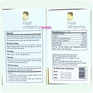 Viên Uống Trắng Da Toàn Thân Pearl Whitening- Với thành phần L-Glutathion,L-cystine Giúp trắng da, mờ nám, tàn nhang- hộp 30 viên - Viên Uống Trắng Da Toàn Thân Pearl Whitening- 3