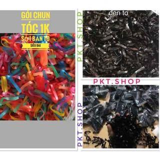 Gói Dây Buộc Tóc 1k Siêu Dai, Chun cột Tóc Đen và nhiều màu xinh - chun toca thumbnail
