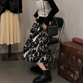 Chân váy midi chữ A dáng xoè hoạ tiết tie-dye vân đá ấn tượng phong cách cổ điển - CV008 thumbnail