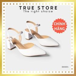 Giày cao gót mũi nhọn hở gót cao cấp phối dây mỏng cao 5cm phong cách Hàn Quốc  True Store đảm bảo  EK001