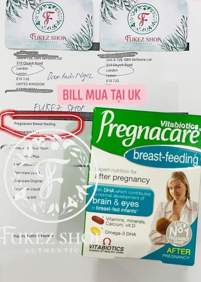 Vitamin tổng hợp cho các mẹ sau sinh Pregnacare 84 viên - Bill mua tại UK - PVN1249 3