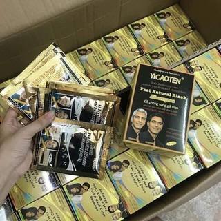 HỘP 10 gói GÓI DẦU GỘI ĐEN TÓC THẢO DƯỢC YiCAOTEN - YiCAOTEN - hộp 10 gói - - 1 hôp đen tóc thumbnail