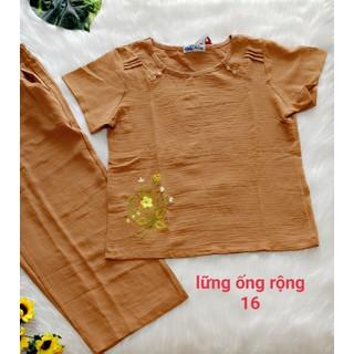 Bộ đũi quần lửng- 35 đến 75kg - ống rộng có túi-ảnh thật-CHO XEM HÀNG - 089 thumbnail