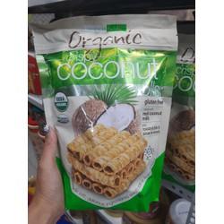 Bánh quế dừa Tropical Fields Organic Crispy Coconut Rolls 312g