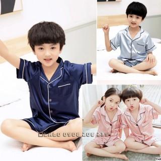 Bộ pijama cộc tay quần đùi bé trai bé gái 11 đến 45kg 083 - 083465969 thumbnail