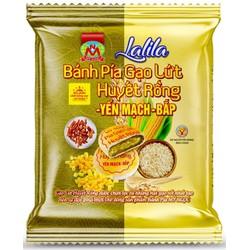 LaLiLa _ 190g 2 Bánh PÍA chay GẠO HUYẾT RỒNG yến mạch BẮP tươi, 3 GIẢM cholesterol ĐƯỜNG TRONG MÁU huyết áp, CÓ chất xơ