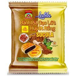 LaLiLa _ 180g 2 Bánh pía CHAY gạo huyết rồng SOCOLA tươi, KHÔNG CÓ trứng muối & SẦU RIÊNG, có Vitamin nhóm B tốt trí nhớ