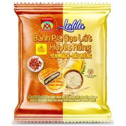 LaLiLa _ 180g 2 Bánh PÍA chay GẠO HUYẾT RỒNG yến mạch SẦU RIÊNG tươi, có SILICIUM thải acid uric, VITA B tốt trí nhớ