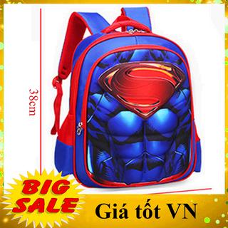 [LỚP 1-3] Balo cho bé trai in nổi hình Super Man siêu đẹp, chống nước siêu nhẹ hàng chuẩn chất lượng, cặp sách tiểu học - BL38 thumbnail