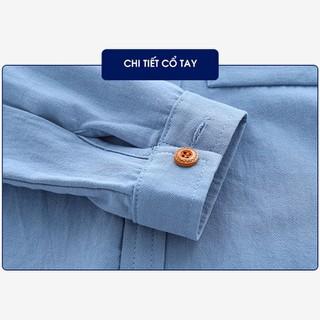 Áo sơ mi dài tay cotton AZUNA WELLKIDS cho bé trai họa tiết túi ngực hàng nhập khẩu [ĐƯỢC KIỂM HÀNG] 39985936 - 39985936 thumbnail