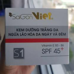 2 hủ kem Sài Gòn Việt trắng da ngừa lão hóa ngày và đêm 30g