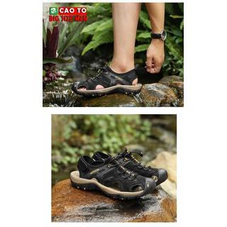 Giày Sandal Bít Mũi Outdoor Màu Đen Big Size Men - GSBMO2103 thumbnail