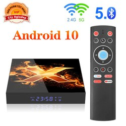 Tivi Box Android 10 có Bluetooth + Nhận dạng giọng nói Voice Vonta Giormani X1