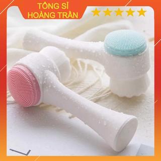 Cọ rửa mặt 2 đầu Hàn Quốc loại có hộp nhựa - 4667854981 thumbnail