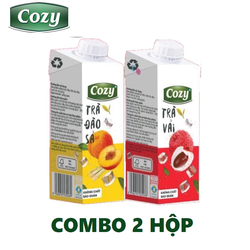 COMBO 2 HỘP TRÀ TRÁI CÂY COZY - 225ml/Hộp - HSD 01/2022