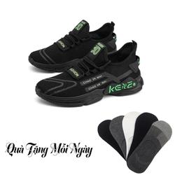 Giày Sneaker Thể Thao Nam Kene Hàn Quốc + Tặng đôi vớ luời mang thoáng mát