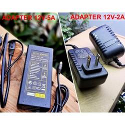 Nguồn Adapter 12V-2A, 5A - Nguồn dùng cho đèn LED - Quạt  - Máy Bơm (Hàng chất lượng cao - đủ công suất)
