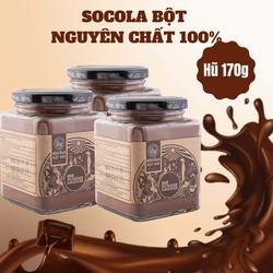 [Nguyên liệu pha chế - làm bánh] - Bột Socola Nguyên Chất 100% 170g SHE Chocolate từ cây Caocao Việt Nam- HŨ 170g - Socola nguyên chất 100% không đường. Làm bánh, pha chế, tiện lợi, dễ sử dụng. Cung cấp dinh dưỡng cho cơ thể