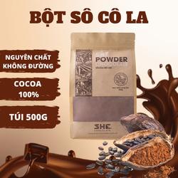 [Nguyên liệu pha chế - làm bánh] - Bột Socola Nguyên Chất 100% SHE Chocolate - Túi 500g - Socola nguyên chất 100% không đường. Làm bánh, pha chế, tiện lợi, dễ sử dụng. Cung cấp dinh dưỡng cho cơ thể