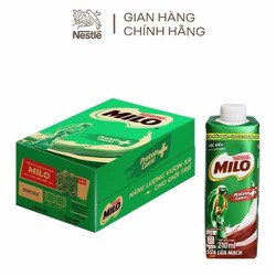 Thùng 24 hộp sữa nước Milo nắp vặn 200ml date 10/2021