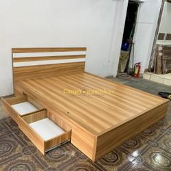 Giường Ngủ 2 hộc kéo gỗ cn MDF phủ melamine CPX-G05