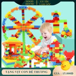 Đồ chơi xếp hình lắp ghép phát triển trí tuệ loại 100, 256, 520 chi tiết tùy chọn. Đồ chơi kích thích trí tuệ cho bé. Lego xếp hình trẻ em.