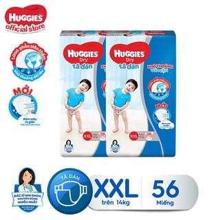 Combo 2 tã dán Huggies Diapers Super Jumbo XXL56 - TUHG000502CB thumbnail