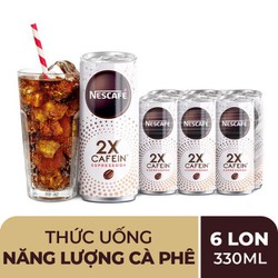 COMBO 6 LON NESCAFE Cà phê Soda ESPRESSODA 2X NESCAFE 330ML/1 LON - DATE 05/2021