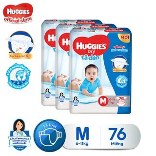 Combo 3 tã dán Huggies Diapers Super Jumbo M76 - TUHG000350CB thumbnail