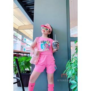 Quần áo trẻ em mocmockids, đồ Bộ mặc hè bé gái, đồ mặc nhà bé gái hình pony dễ thương, cá tính thun cotton mềm mịn mát - M005 thumbnail
