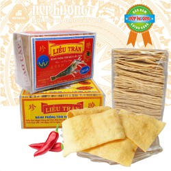 Bánh phồng tôm - Liễu Trân - Hộp 500g - Đặc sản Sóc Trăng