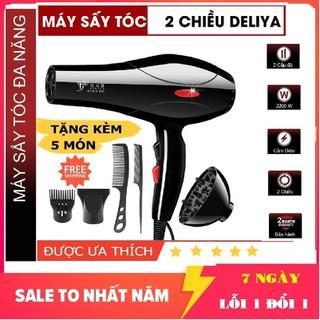 Máy sấy tóc chuyên nghiệp- Máy Sấy Tóc DELIYA Nóng lạnh 2 chiều Công Suất Lớn 2200W Tặng Kèm 5 Phụ Kiện Chuyên Nghiệp - máy sấy tóc 8018-02 thumbnail