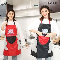 Tạp dề nhà bếp, nấu ăn, pha chế, tạp dề vải họa tiết dễ thương và bao tay vải nhấc nồi chống nóng, cách nhiệt cao.