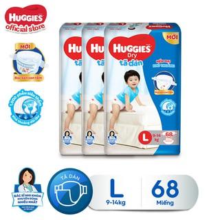 Combo 3 tã dán Huggies Diapers Super Jumbo L68 - TUHG000351CB thumbnail